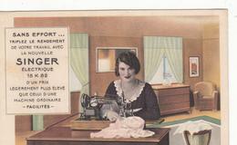 CPA   Publicité Machine à Coudre SINGER - Reclame