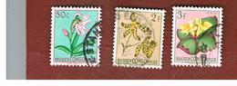 CONGO BELGA (BELGIAN CONGO) - SG 301.308  - 1952  FLOWERS   - USED ° - Congo Belga