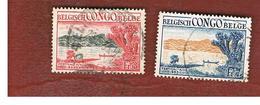 CONGO BELGA (BELGIAN CONGO) - SG 319.320  - 1953  KIVU FESTIVAL (COMPLET SET OF 2)   - USED ° - Congo Belga