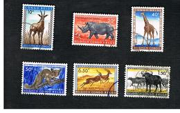CONGO BELGA (BELGIAN CONGO) - SG 339.348  - 1959  ANIMALS   - USED ° - Congo Belga