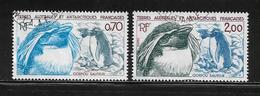 T.A.A.F.  ( TA8 - 54 )   1984  N° YVERT ET TELLIER  N° 105/106 - Tierras Australes Y Antárticas Francesas (TAAF)