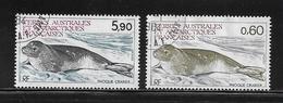 T.A.A.F.  ( TA8 - 56 )   1984  N° YVERT ET TELLIER  N° 107/108 - Tierras Australes Y Antárticas Francesas (TAAF)
