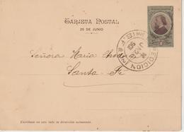 Argentine Entier Postal 1901 Pour Santa Fé - Ganzsachen