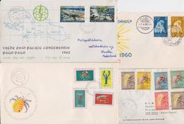 Nouvelle Guinée Néerlandaise Nederlandse Nieuw Guinea Lot De 20 Enveloppes Premier Jour FDC 1960's Butterfly Papillon - Nouvelle Guinée Néerlandaise