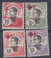 Indochine N° 65 / 68  X Au Profit De La Croix-Rouge Les 4 Valeurs  Trace Charnière Sinon TB - Indochine (1889-1945)