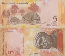 Venezuela Pick-Nr: 89f (19.08.2014) Bankfrisch 2014 5 Bolivares - Venezuela