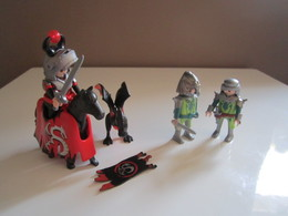 PLAYMOBIL CHEVALIERS DRAGON ROUGE ET CHEVALIERS DRAGONS VERT - Playmobil