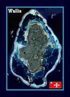 Wallis And Futuna Wallis Island Satellite View New Postcard - Wallis Und Futuna