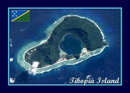 Solomon Islands Tikopia Island Aerial View New Postcard Salomonen AK - Islas Salomon