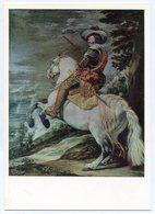 PAINTING HORSE USSR 1977 POSTCARD PORTRAIT OF THE DUKE OLIVARES VELASCES - Russia