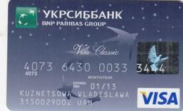 UKRAINE. Bank Card Ukraine. UKRSIBBANK.  2013  *** - Krediet Kaarten (vervaldatum Min. 10 Jaar)