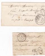 Landes - Càd 14 Liposthey De 1855 Et Càd 15 Sur Fragment - Poststempel (Briefe)