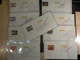 Lot De 9 Chèques La Poste (CCP) - SPECIMEN - Illustrations Bandes Dessinées - Tous Différents - Chèques & Chèques De Voyage