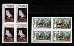 Nouvelle Calédonie Non Dentelé - YV 479 & 480 Non Dentelé N** En Blocs De 4 , Oiseaux - Ongetande, Proeven & Plaatfouten