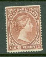 Falkland Is: 1891/1902   QV   SG18a    1d   Brown   MH - Falkland Islands