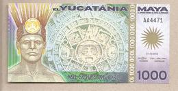 Yucatania - Banconota Di Fantasia Non Circolata FdS Da 1.000 Soles De Oro - 2012 - Non Classificati