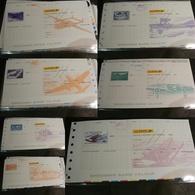 Lot De 7 Chèques La Poste (CCP) - SPECIMEN - Illustrations Poste Aérienne - Tous Différents - Chèques & Chèques De Voyage