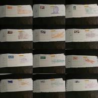 Lot De 12 Chèques La Poste (CCP) - SPECIMEN - Illustrations Poste Aérienne - Tous Différents - Chèques & Chèques De Voyage