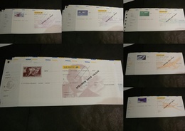 Lot De 6 Chèques La Poste (CCP) - SPECIMEN - Illustrations Poste Aérienne - Tous Différents - Chèques & Chèques De Voyage