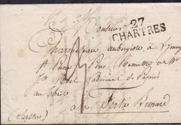 Eure Et Loire - 27/Chartres Sur LAC De 1824 - Marcofilia (sobres)