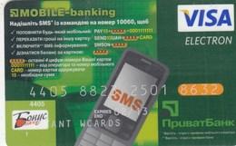 UKRAINE. Bank Card Ukraine.  PRIVATBANK  2013  *** - Krediet Kaarten (vervaldatum Min. 10 Jaar)