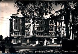 6474) Cartolina-DI ABANO TERME-STABILIMENTO TERMALE ALBERGO TRIESTE-VITTORIA-VIAGGIATA - Italia