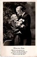 Hochzeitspaar Und Spruch 1940 Feldpost - Paare