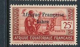 "FRANCE AEF ""FRANCE LIBRE"" MAURY 143  MINT PARAFIN GUM LITTLE RUST ROUSSEUR - Neufs"