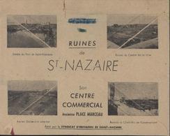 Enveloppe Illustrée Visitez Ruines Saint Nazaire Par Syndicat D'initiative De St Nazaire YT 755 X5 + 757 + 758 X5 + 713 - Marcophilie (Lettres)