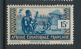 "FRANCE AEF ""FRANCE LIBRE"" MAURY 93  MINT PARAFIN GUM LITTLE RUST ROUSSEUR - A.E.F. (1936-1958)"