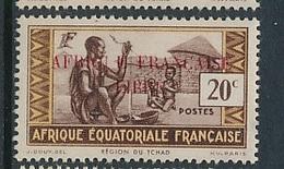 "FRANCE AEF ""FRANCE LIBRE"" MAURY 94  MINT PARAFIN GUM LITTLE RUST ROUSSEUR - A.E.F. (1936-1958)"