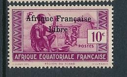"FRANCE AEF ""FRANCE LIBRE"" MAURY 140  MINT PARAFIN GUM LITTLE RUST ROUSSEUR - A.E.F. (1936-1958)"