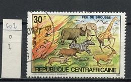 Centrafrique - Zentralafrikanische 1975 Y&T N°602 - Michel N°1004 (o) - 30f Lutte Contre Les Feux - Central African Republic