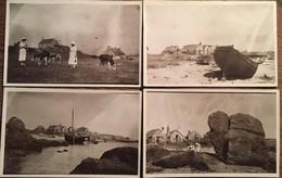4 CPA Photos, îles Chausey, Manche (50)  2 Animées, Dames, Vaches (prise Par Amie Des 2 Dames?), Blainvillais 1930/1940 - Granville
