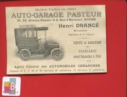 ROUEN AUTO GARAGE PASTEUR Henri Drancé Rue Harcourt Carte Illustrée Signée Gallet Automobile 1904 - Rouen