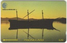 FALKLAND ISLANDS A-132 Magnetic Cable&Wireless - Traffic, Ship - 336CFKA - Used - Falklandeilanden