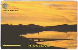 FALKLAND ISLANDS A-135 Magnetic Cable&Wireless - Landscape, Coast, Sunset - 339CFKA - Used - Falklandeilanden