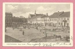 Polska - Polen - Pologne - CZESTOCHOWA - CZENSTOCHAU - Stary Rynek - Briefmarken - 2 Scans - Schlesien