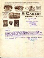 13.MARSEILLE.PRODUCTEUR & TRITURATEUR DE FLEURS DE PYRETHRE.POIVRES.EPICES.SAFRANS.A.CAUBET 9 RUE JUNOT. - Frankrijk