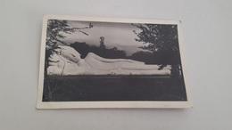 ANTIQUE PHOTO THAILAND POSTCARD SLEEPING BUDDHA CIRCULATED 1957 - Thailand