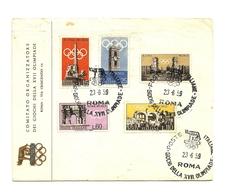 1959 - Italia 861/65 Olimpiadi Di Roma - Busta Pubblicitaria   14/59M - Estate 1960: Roma