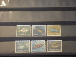 NORFOLK - 1960/3 PESCI 6p-11p-1 Sh-1,3-1,6-2,3 - NUOVI (++) - Isola Norfolk