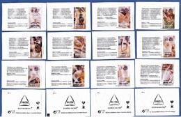 Delta Cafés, Portugal 2019 - APDP Parkinson / Série Complète 12 Sachets Vides - Zucchero (bustine)