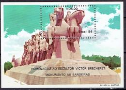 Brasil 1984 - Monumento As Bandeiras, M/sheet  - Mi. B63 - MH, Avec Trace De Charniere, Ungebraucht - Brazilië