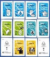 Delta Cafés, Portugal 2019 - Epal, água De Torneira / Série Complète 10 Sachets Vides - Sucres