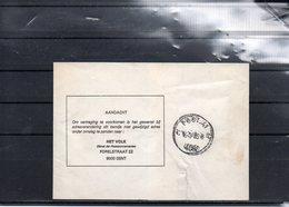 BELGIQUE - POST 41 - BPS 4080 - MANCHON JOURNAL HET VOLK 1985 GENT  - UN3 - Marcophilie