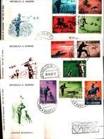 12846a)F.D.C.SERIE COMPLETA SAN MARINO   25-8-62 - FDC