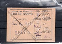 BELGIQUE - POST 5 - BPS 4090 - ESTAFETTES  - 1975  - UN3 - Marcophilie