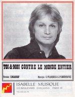 PARTITION CLAUDE FRANCOIS - TOI ET MOI CONTRE LE MONDE ENTIER - 1975 - EXC ETAT PROCHE NEUF - - Autres