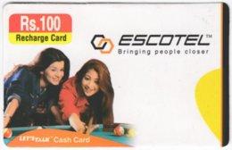 INDIA A-015 Prepaid Escotel - People, Woman - Used - India